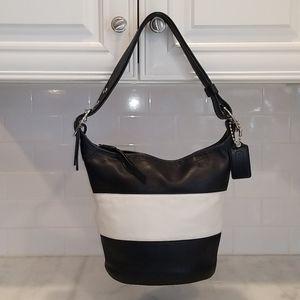 Coach Bleeker Bucket Bag Navy/White Rugby Stripe